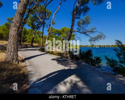 Coastal country-road promenade - Stock Image