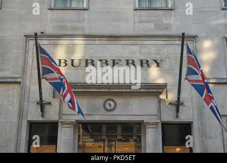 bond street london burberry - Stock Image