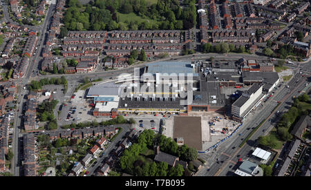 aerial view of Stretford Mall, Chester Road, Stretford, Manchester - Stock Image