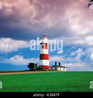Happisburgh Lighthouse Norfolk UK - Stock Image