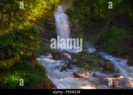 Glessbach waterfall in Axalp - Switzerland - Stock Image