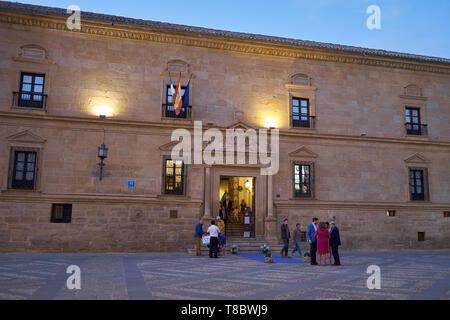 Parador - Hotel - 16th century. Úbeda, Jaén, Andalusia, Spain. - Stock Image
