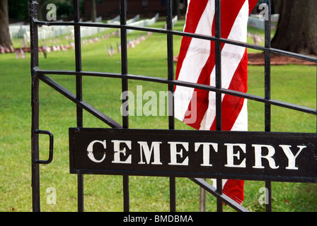 Gate leading into a cemetery - Stock Image