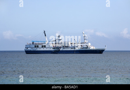 M/V Santa Cruz, Tourist Ship, Galapagos Islands, Ecuador, South America - Stock Image