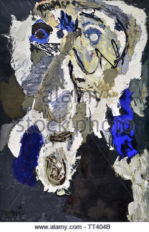 Rudi Fuchs by Karel Appel born in 1921 Dutch painter, (sculptor,  poet, Avant-garde movement Cobra), The, Netherlands. - Stock Image