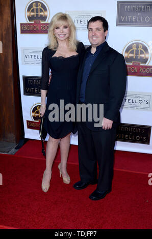 June 13, 2019 - Studio City, CA, USA - LOS ANGELES - JUN 13:  Loni Anderson, Quinton Anderson Reynolds at the ''Feinstein's at Vitello's'' VIP Grand Opening at the Vitello's on June 13, 2019 in Studio City, CA (Credit Image: © Kay Blake/ZUMA Wire) - Stock Image