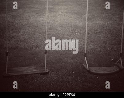 Empty swings - Stock Image