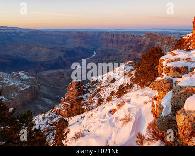 Desert View overlook. Grand Canyon National Park, Arizona. Palisades of the Desert and Colorado River. - Stock Image