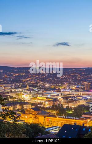 CITYSCAPE STUTTGART, BADEN-WURTTEMBERG, GERMANY - Stock Image