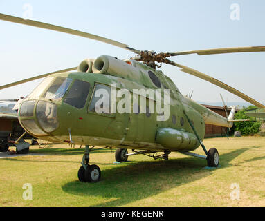 Old MI-8 helicopter - Stock Image