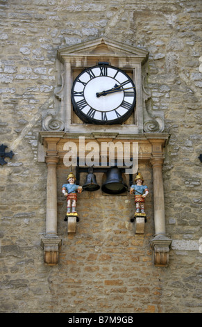 The Clock Face on Carfax Tower, Oxford, Oxfordshire, UK - Stock Image