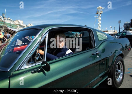 Steve McQueen Ford Mustang. - Stock Image