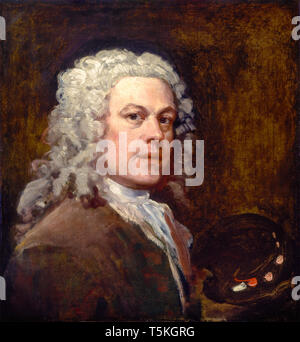 William Hogarth (1697-1764), Self-Portrait, painting, c. 1735 - Stock Image