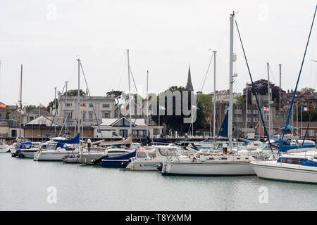 Ryde harbour on the Isle of Wight - Stock Image