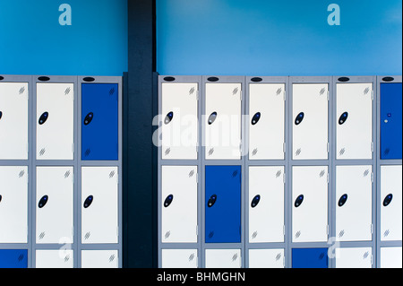 image of changing room lockers - Stock Image