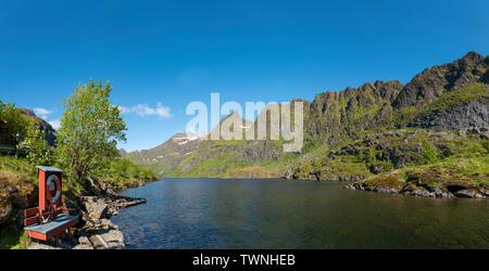 Landscape at Å, Moskenes, Norway - Stock Image