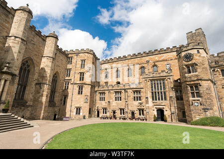 The courtyard of Durham Castle, part of University College Durham, England, UK - Stock Image