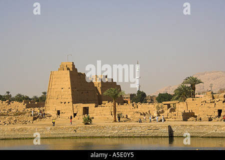 Part of the Temple of Karnak Complex, Luxor, Egypt - Stock Image