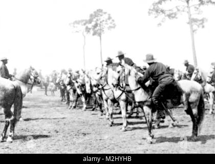 Spanish-American War, Buffalo Soldiers, 9th Cavalry, 1898 - Stock Image