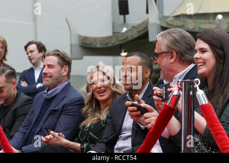 Pitbull is honoured with a hand and footprint ceremony at the TCL Chinese Theatre  Featuring: John Travolta, Ellen K Where: Los Angeles, California, United States When: 14 Dec 2018 Credit: Sheri Determan/WENN.com - Stock Image
