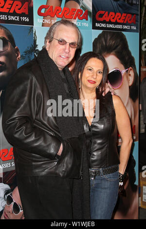 New York, USA. 13 March, 2009. Actor, Danny Aiello, and brand manager, Candace Keough at the launch of Carrera Vintage Sunglasses at Angel Orensanz Foundation. Credit: Steve Mack/Alamy - Stock Image