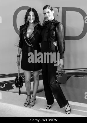 New York, NY - June 03, 2019: Rebecca Minkoff and Hilary Rhoda attends 2019 CFDA Fashion Awards at Brooklyn Museum - Stock Image
