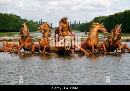 Statue of Aplollon in the park of Versailles, France - Stock Image