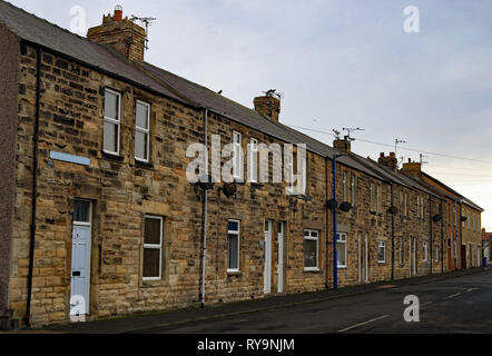 Terraced housing Lawson Street Amble   Amble is a small town on the north east coast of Northumberland in North East England. Cw 6654 It was a form - Stock Image