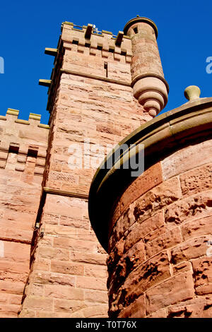 The Water Tower, a shot of the front of this iconic building in Arbroath, Angus, Scotland. - Stock Image