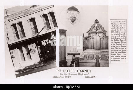 Hotel Carney, North C Street, Virginia City, Nevada, USA. - Stock Image