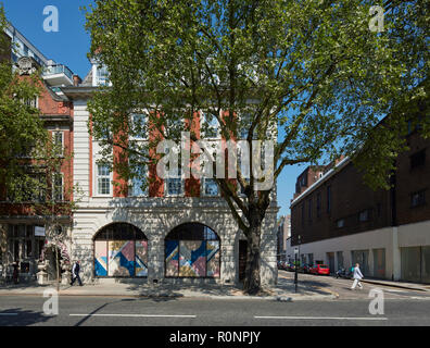 Front elevation King's Road. 224 - 226 Kings Road, London, United Kingdom. Architect: Horden Cherry Lee Architects Ltd, 2018. - Stock Image