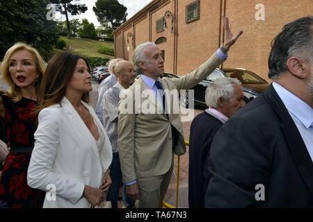 Carmen Lomana and Eduardo Inda during San Isidro Fair 2019 in Madrid  22/05/2019    Cordon Press - Stock Image