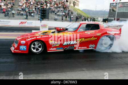 June 17, 2011 - West Valley City, Utah, United States of America -  June 18,2011-West Valley City, Utah-  IHRA Driver - Stock Image