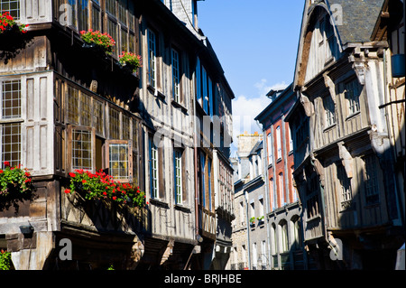 Buildings, Dinan, Brittany, France - Stock Image