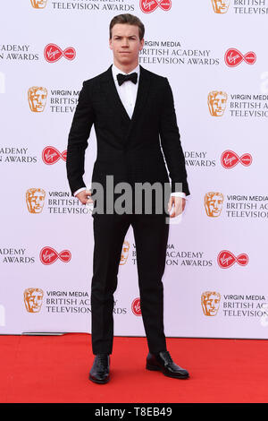 London, UK. 12th May, 2019. LONDON, UK. May 12, 2019: Will Poulter arriving for the BAFTA TV Awards 2019 at the Royal Festival Hall, London. Picture: Steve Vas/Featureflash Credit: Paul Smith/Alamy Live News - Stock Image