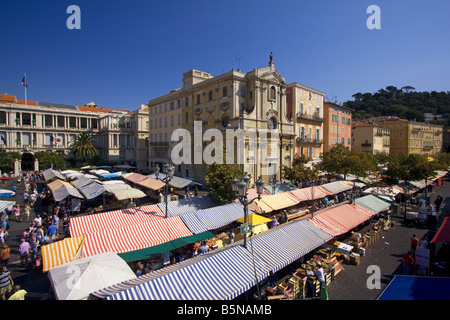 France French Reviera Nice Cours de Saleya market stalls - Stock Image
