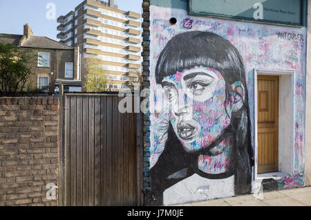 Graffiti in East London UK - Stock Image