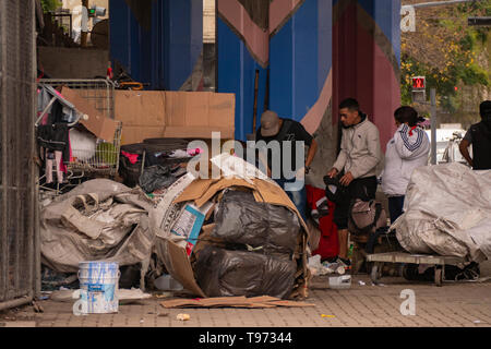 Crisis in Argentina. Garbage collectors for sale in Buenos Aires, Argentina. Poverty and the uncontrollable economy. - Stock Image