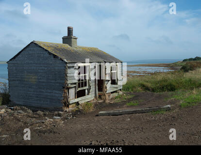 The Old Shack By The Sea, Hoy, Orkney - Stock Image