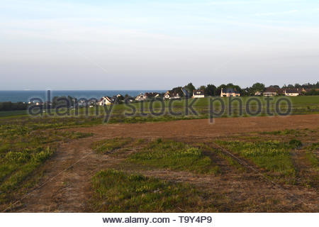The site and surrounding areas of the British Normandy Memorial site in Ver-sur-Mer in Normandy, France overlooking Gold Beach - Stock Image