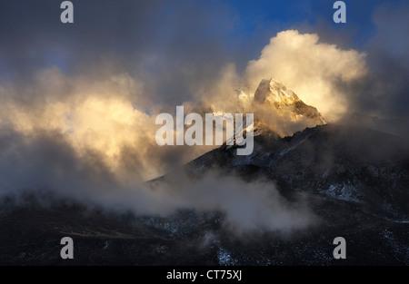 Ama Dablam mountain in Nepal - Stock Image
