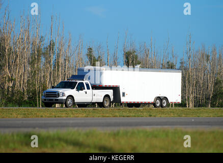 towing trailer - Stock Image