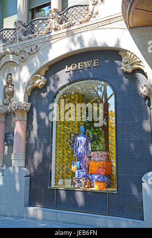 Loewe boutique, Barcelona, Catalonia, Spain - Stock Image