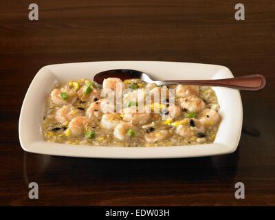 Shrimp in Lobster Sauce - Stock Image