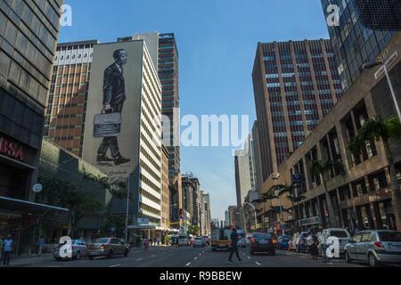 Public art, Anton Lembede Bachelor of Law, by Sakhile Mhlongo, Durban city centre, KwaZulu-Natal, South Africa - Stock Image