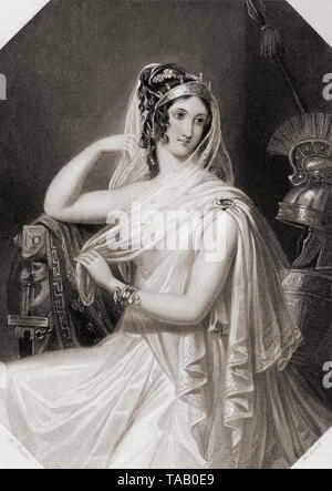 Helen.  Principal female character from Shakespeare's play Troilus and Cressida.  From Shakespeare Gallery, published c.1840. - Stock Image