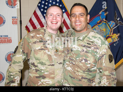 U.S. Army Capt. John Harder, the assistant chief of staff for personnel for the 53rd Troop Command, New York Army - Stock Image