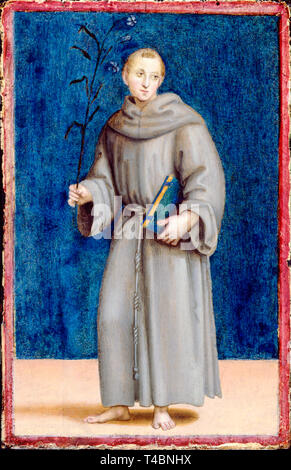Raphael, Saint Anthony of Padua, portrait painting, c. 1502 - Stock Image