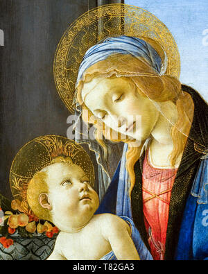 The Virgin and Child (The Madonna of the Book)(detail), painting by Sandro Botticelli, 1480 - Stock Image