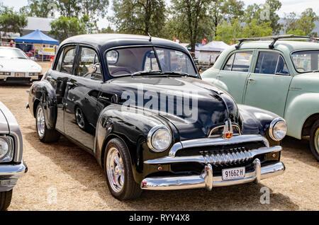 Black Australian FJ Holden sedan c1953-1956 - Stock Image